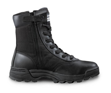 "Original Swat Classic Wide Fit 9"" Zip Sided Tactical Boots Black"