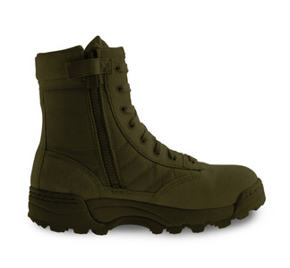 "Original Swat Classic 9"" Zip Sided Tactical Boots Green"