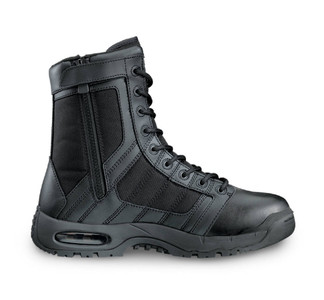 "Original Swat MTO WIDE Air 9"" Zip Sided Tactical Boots Black"