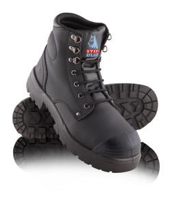 Steel Blue ARGYLE Nitrile Bump Cap Steel Toe Boots Black