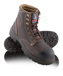 Steel Blue ARGYLE Nitrile Bump Cap Steel Toe Boots Whisky