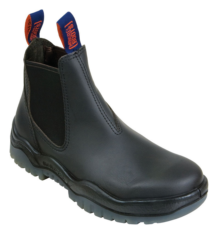 Mongrel Boots 916020 Black Kip Pull On Boots Non Safety
