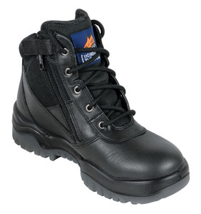 Mongrel Boots 261020 Black Zip Side Steel Toe Work Boots Womens