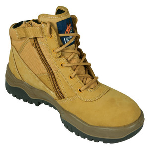 Mongrel Boots 261050 Wheat Zip Side Steel Toe Work Boots Womens