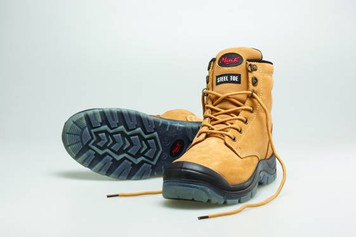 Mack Boots Charge, Lace Up Steel Toe Water Resistant Safety Boots Honey