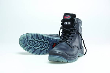 Mack Boots Charge, Lace Up Steel Toe Water Resistant Safety Boots Black