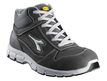 Diadora Utility Run Hi Penetration Resistant Safety Shoes with Steel Toe Cap, Light Grey