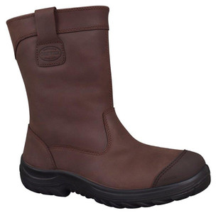 Oliver Boots WB34-692 Brown Pull On Riggers Boots With Steel Toe (Oliver Boots WB34-692)