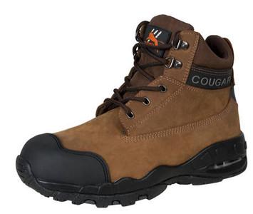 Cougar B214 Side Zipper Work Boots, Steel Cap, Crazy Horse