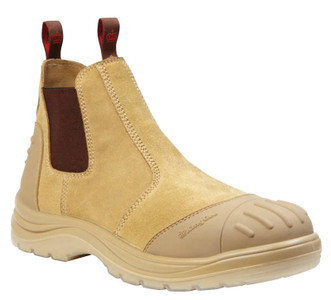 KingGee Wills Suede Leather Safety Work Boots - Sand