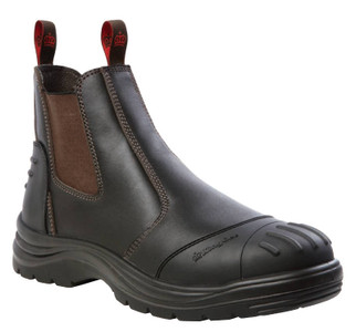 KingGee Wills Leather Safety Work Boots - Claret