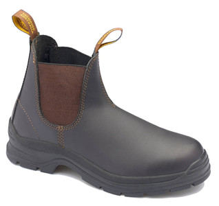 Blundstone 405 Brown waxy leather elastic side soft toe boot