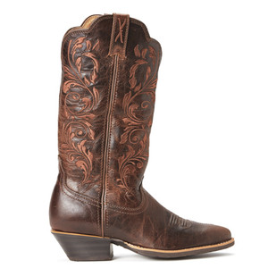 Twisted X Womens Western Boots in Chocolate Leather
