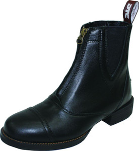 Thomas Cook All Rounder Paddock Zipper DTC Waterproof Equestrian Womens Boots in Black Leather