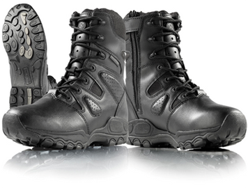 Smith and Wesson Shield 8 Inch Waterproof Tactical Boots with Side Zip Black