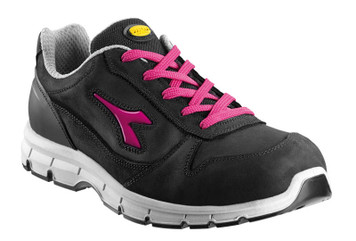 Diadora Utility Run Womens Penetration Resistant Safety Shoes with Steel Toe Cap - Black and Purple