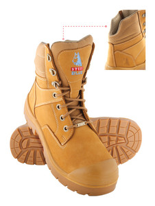 Steel Blue Southern Cross Lace Up Steel Cap Ankle Boot With Scuff Cap - Wheat