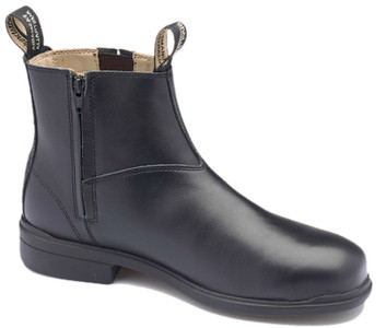 Blundstone 783 Black Full Grain Leather Zip Sided Steel Toe Safety Dress Boots