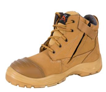Cougar B214 Side Zipper Work Boots, Steel Cap, Wheat