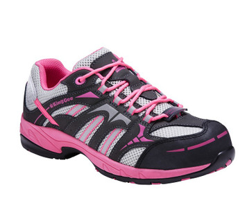 KingGee Comp Tech Womens Safety Work Shoes in Pink