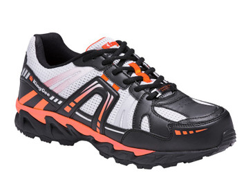 KingGee Comp Tech Light Weight Composite Toe Safety Work Shoes Blk Orange