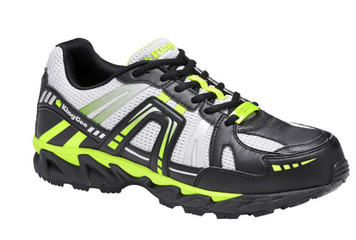 KingGee Comp Tech Light Weight Composite Toe Safety Work Shoes Blk Lime