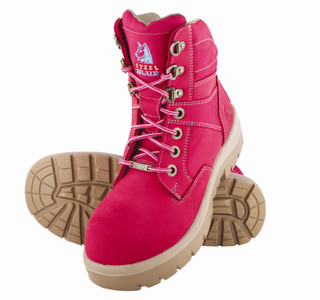 Steel Blue Southern Cross Ladies Pink Steel Cap Boot