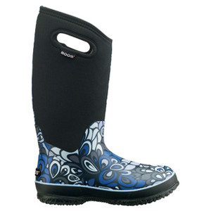 BOGS Classic High Vintage Wellingtons - Gumboots in Black and Multi