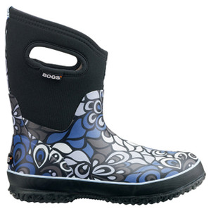 BOGS Classic Mid Vintage Wellingtons - Gumboots in Black and Multi