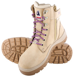Steel Blue Southern Cross Ladies Zip Sided Steel Cap Boot in Sand