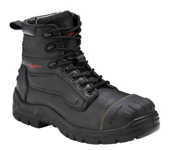 KingGee Phoenix 6 Inch Black Leather Zip Sided Steel Toe Safety Work Boots