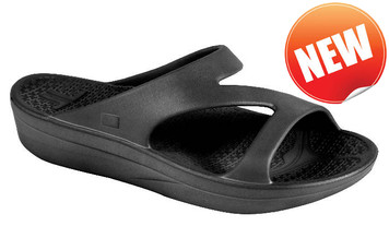 Telic Thongs Z-Strap Flip Flops Midnight Black