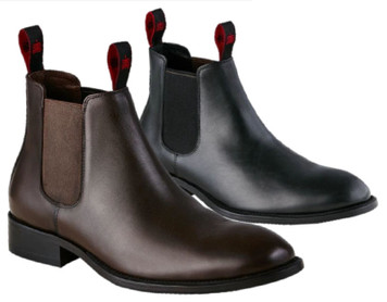 KingGee Urban Leather Dress Boots Brown