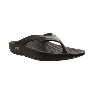 Oofos OO-la-la Thongs - Flip Flops Womens Black on Black