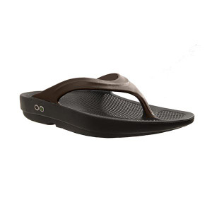 Oofos OO-la-la Thongs - Flip Flops Womens Black Latte