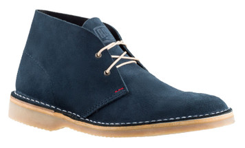 Rossi Sahara Desert Boots 4014 in Blue Leather