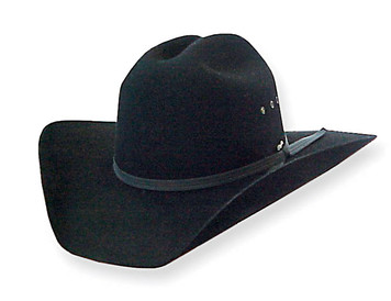 Wrangler Western Tornado Wool Felt Hat in Black