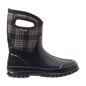 Bogs Winter Plaid mid height insulated gumboots for women