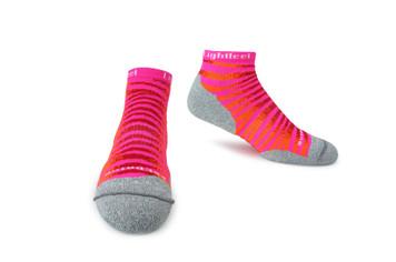 Lightfeet Predator Hi Tech Premium Sports Socks Fluoro Pink and Red