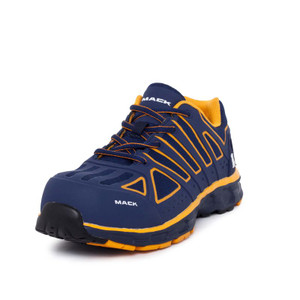 Mack Vision Lightweight Composite Toe Safety Runners in Navy Orange