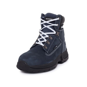 Mack Boots Brooklyn Womens Safety Boots in Navy Leather