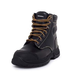 Mack Boots Chassis Steel Toe Penetration Resistant Lace Up Work Boots Black