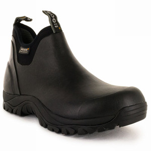 BOGS Craftsman Waterproof Natural Rubber Work Boots in Black