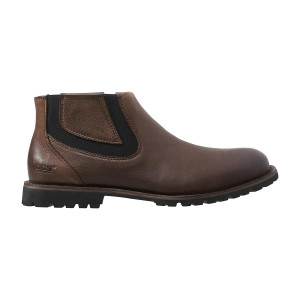 BOGS Johnny Chelsea Mens Waterproof Leather Casual Boots in Coffee