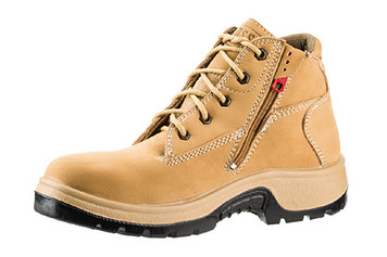 Rossi 928 Peak Lace Up Zip Sided Wide and Deep Fitting Non-Safety Work Boots in Nubuk Leather