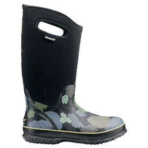 BOGS Classic High Le Jardin Womens Insulated Gumboots in Black