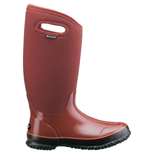 BOGS Classic High Handles Womens Insulated Gumboots in Rust