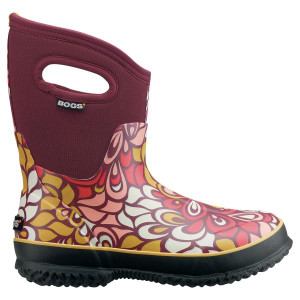 BOGS Classic Mid Vintage Wellingtons - Gumboots in Burgundy