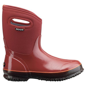 BOGS Classic Mid Handles Womens Insulated Gumboots in Rust