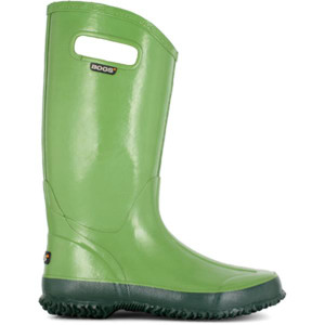 BOGS Rainboot Soft Natural Rubber Womens Gumboots With Pull Handles in Green